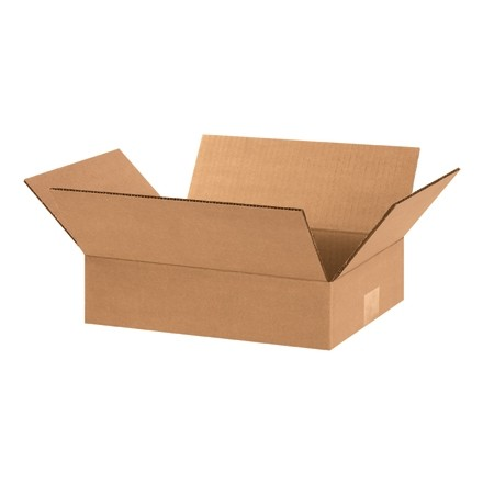 "Corrugated Boxes, 12 x 9 x 3"", Kraft"