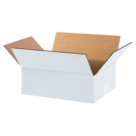 "Corrugated Boxes, 12 x 9 x 4"", White"