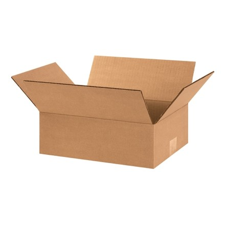 "Corrugated Boxes, 12 x 9 x 4"", Kraft"