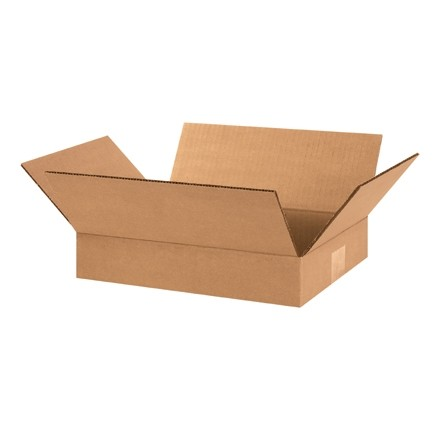 "Corrugated Boxes, 12 x 9 x 2"", Kraft"