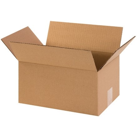 "Corrugated Boxes, 12 x 8 x 6"", Kraft"