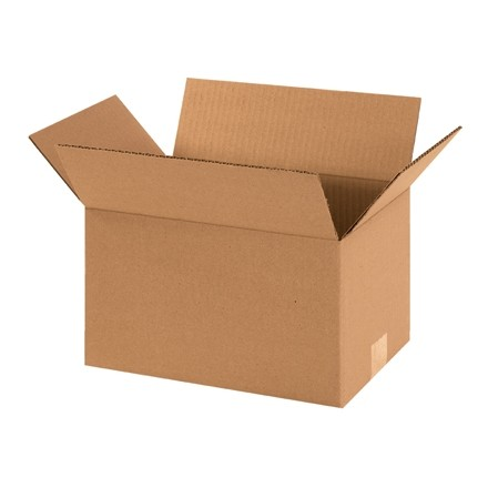 "Corrugated Boxes, 12 x 8 x 7"", Kraft"