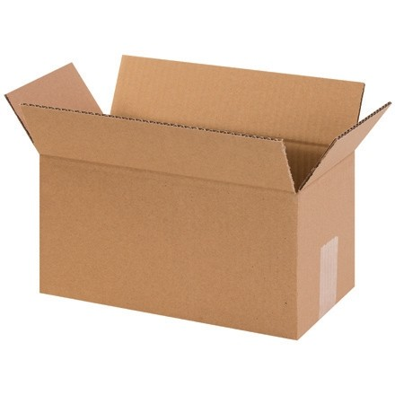"Corrugated Boxes, 12 x 7 x 7"", Kraft"