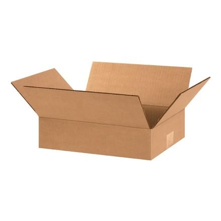 "Corrugated Boxes, 12 x 8 x 3"", Kraft, Flat"