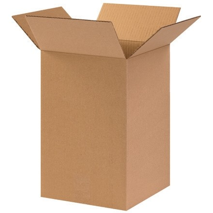 "Corrugated Boxes, 10 x 10 x 15"", Kraft"