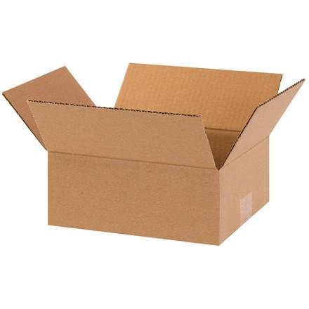 "Corrugated Boxes, 10 x 8 x 4"", Kraft, Flat"