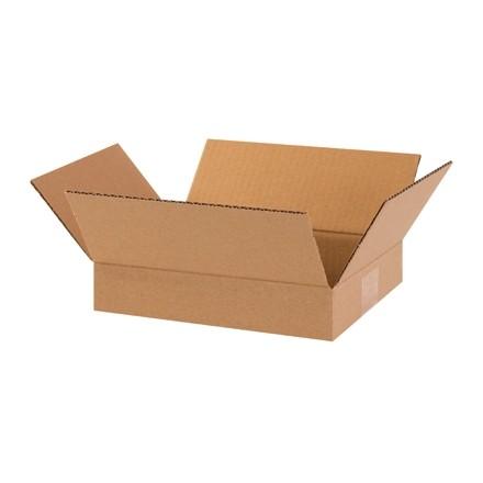 "Corrugated Boxes, 10 x 8 x 2"", Kraft, Flat"