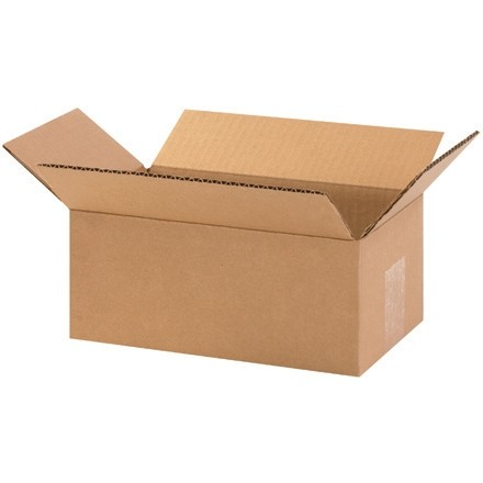 "Corrugated Boxes, 10 x 6 x 4"", Kraft"