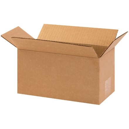 "Corrugated Boxes, 10 x 5 x 5"", Kraft"