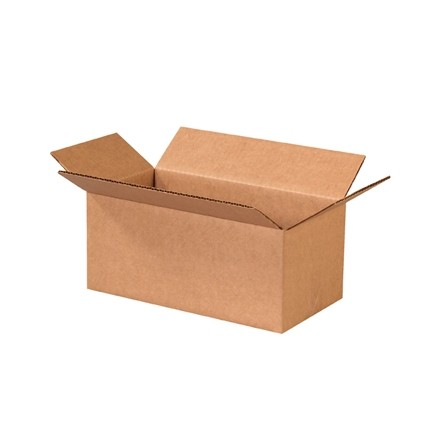 "Corrugated Boxes, 10 x 5 x 4"", Kraft"