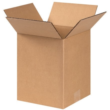 "Corrugated Boxes, 9 x 9 x 10"", Kraft"
