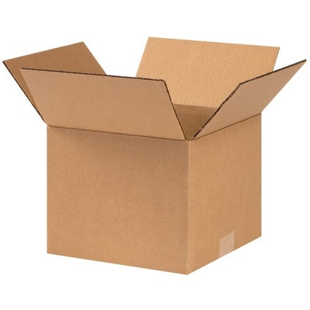 "Corrugated Boxes, 9 x 9 x 7"", Kraft"