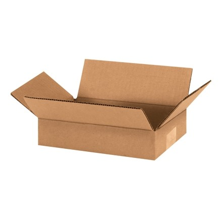 "Corrugated Boxes, 9 x 6 x 2"", Kraft, Flat"