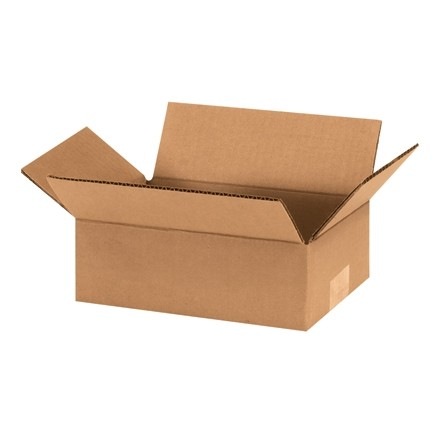 "Corrugated Boxes, 9 x 6 x 3"", Kraft, Flat"