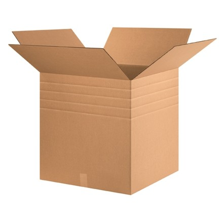 "Corrugated Boxes, Multi-Depth, 24 x 24 x 24"", Kraft"