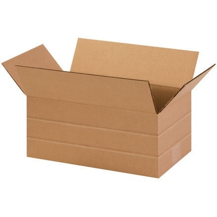 Corrugated Boxes, Multi-Depth, 14 1/2 x 8 3/4 x 6""