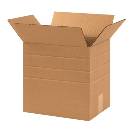 "Corrugated Boxes, 12 1/4 x 9 1/4 x 12"", Kraft"