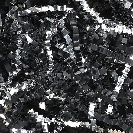 Crinkle Paper, Black & Silver, Blends