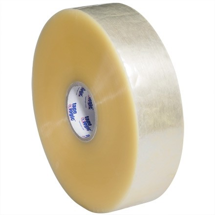 """Clear Machine Carton Sealing Tape, Economy, 3"""" x 1000 yds., 2.5 Mil Thick"""