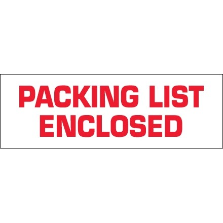 """Packing List Enclosed Tape, 2"""" x 110 yds., 2.2 Mil Thick"""