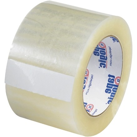 """Clear Carton Sealing Tape, Quiet, 3"""" x 110 yds., 2.6 Mil Thick"""