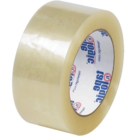 "Clear Carton Sealing Tape, Quiet, 2"" x 55 yds., 2.6 Mil Thick"