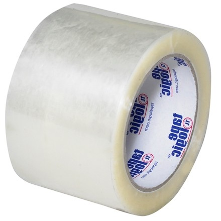 """Clear Carton Sealing Tape, Economy, 3"""" x 110 yds., 1.6 Mil Thick"""