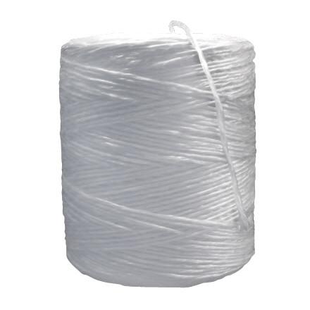 Polypropylene Twine, White, 1-Ply, 325 lb Tensile Strength