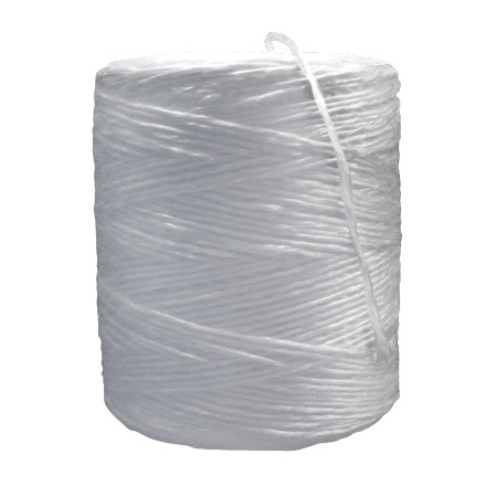 Polypropylene Twine, White, 1-Ply, 210 lb Tensile Strength