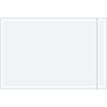 """Resealable Document Envelopes, Clear, 6 x 9"""""""
