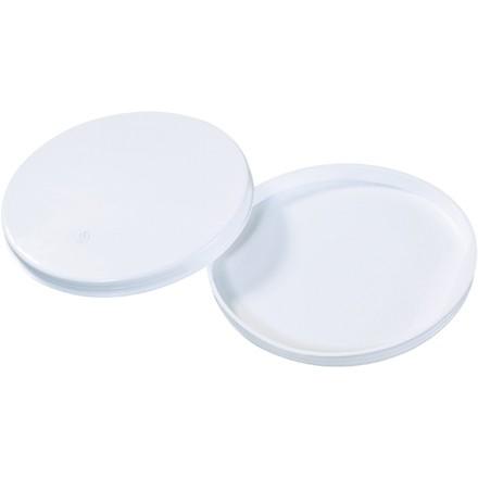 "Plastic End Caps For Tubes, 6"", White"