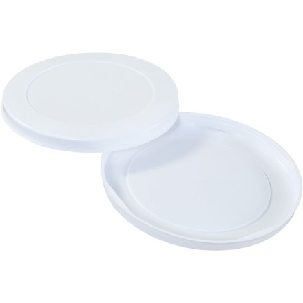 "Plastic End Caps For Tubes, 8"", White"