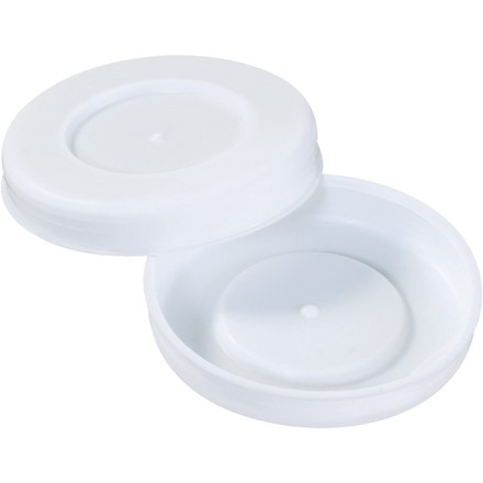 "Plastic End Caps For Tubes, 2 1/2"", White"