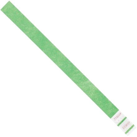 "Green Tyvek® Wristbands, 3/4 x 10"""