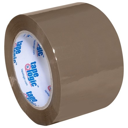 "Tan Carton Sealing Tape, Industrial, 3"" x 110 yds., 2.6 Mil Thick"