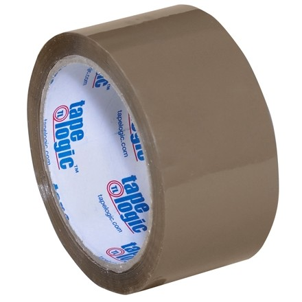 "Tan Carton Sealing Tape, Industrial, 2"" x 55 yds., 2.6 Mil Thick"
