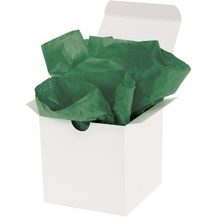 """Holiday Green Tissue Paper Sheets, 20 X 30"""""""