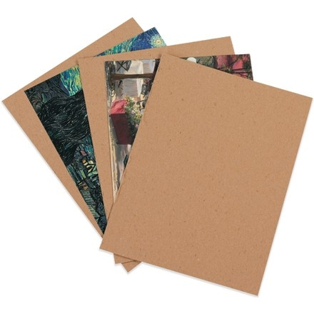 "Chipboard Pads - 0.022"" Thick, 8 x 8"""