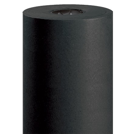"Black Kraft Paper Rolls, 48"" Wide - 50 lb."