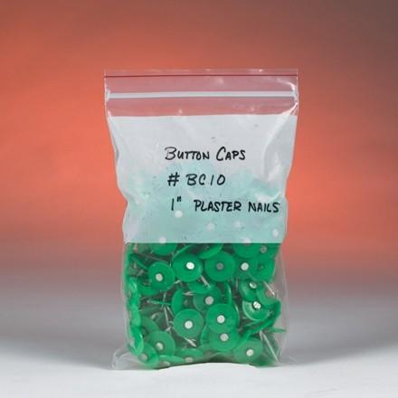 "Minigrip® Reclosable Poly Bags, 5 x 8"", 2 Mil, White Block"
