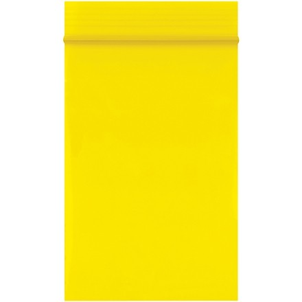 """Reclosable Poly Bags, 2 x 3"""", 2 Mil, Yellow"""
