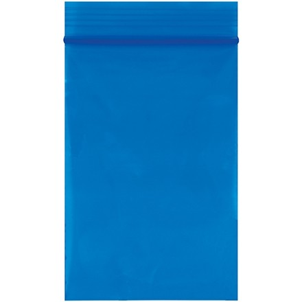 """Reclosable Poly Bags, 2 x 3"""", 2 Mil, Blue"""