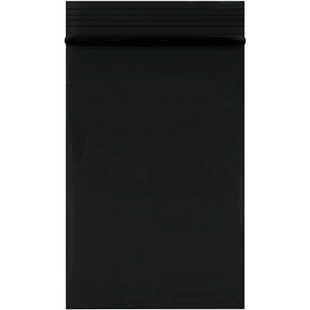 """Reclosable Poly Bags, 2 x 3"""", 2 Mil, Black"""