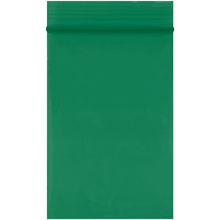 """Reclosable Poly Bags, 2 x 3"""", 2 Mil, Green"""