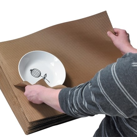 "Indented Kraft Paper Sheets, 18 X 24"" - 60 lb."