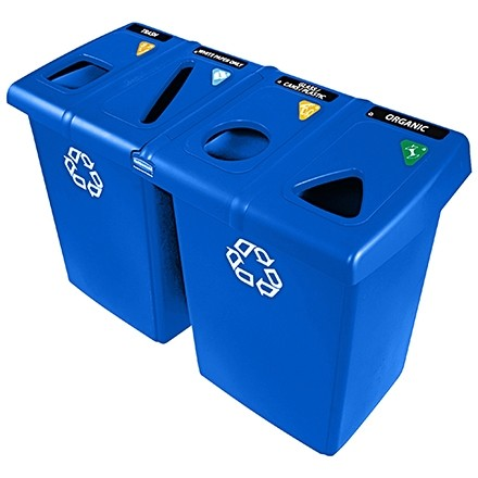 Rubbermaid® Recycling Station, 92 Gallon