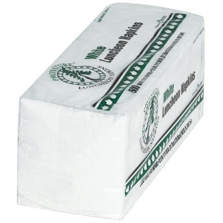 Paper Luncheon Napkins, White, 12 1/2 x 11 3/4