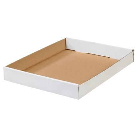 Corrugated Trays, White, 15 X 12 X 1 3/4""