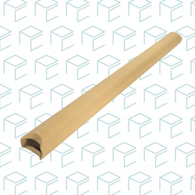 "Kraft Round Mailing Tubes W/ Crimped Ends 2"" X 36"""