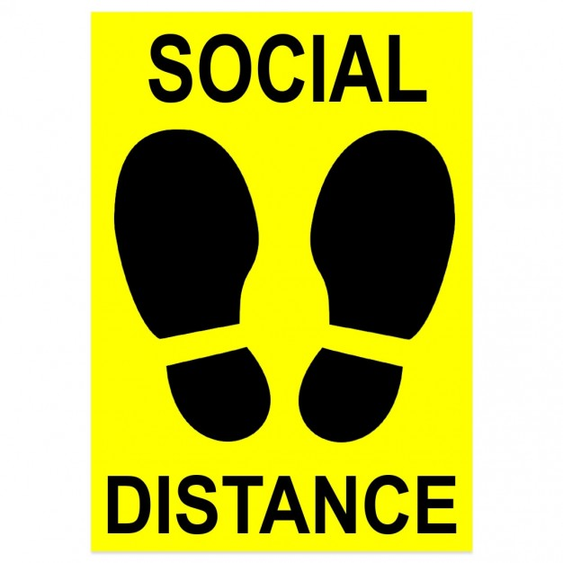 Social Distancing Floor Decal, 7 x 10""